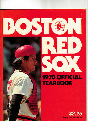 Boston Red Sox 1978 Official Yearbook Carlton Fisk on cover