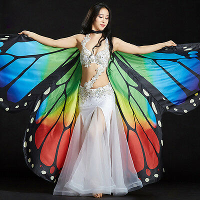 Belly Dance Costume 360 Dgree Butterfly Isis Wings Belly Dance Cloak