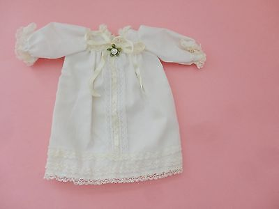 Sweetest Vintage White W Ribbon Floral Bisque Doll Dress