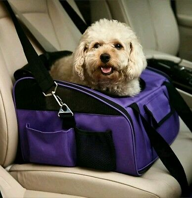 Portable Pet Dog Puppy Cat Car Seat Travel Bag Carrier Crate Cage House New