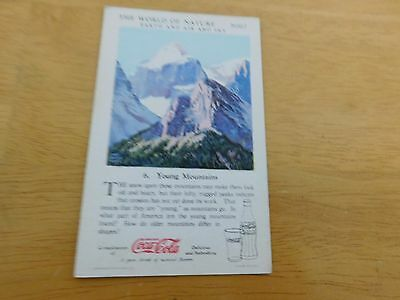 1930 Coca-Cola The World of Nature #6 Young Montains Non-Sports Card Series 1