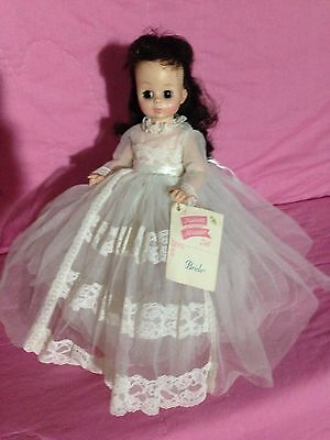 Gorgeous Madame Alexander Bride Doll Vintage, With Stand