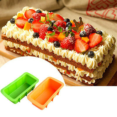 Silicone Bread Loaf Cake Mold Non-Stick Bakeware Baking Pan Oven Mould Kitchen.