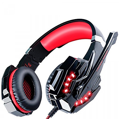 ECOOPRO Gaming Headset PS4 Headset Gaming Headphones Microphone LED Lights Sound