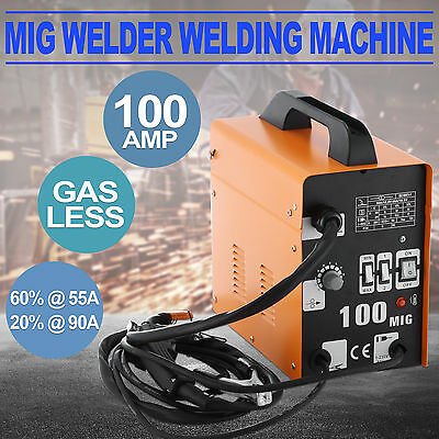 Gasless MIG 100AMP Welder Welding Machine Portable Face Mask Flux Core Wire