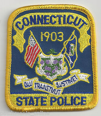 CONNECTICUT STATE POLICE - POCKET/HAT SIZE - IRON or SEW-ON PATCH