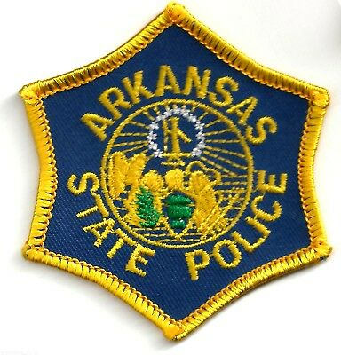 ARKANSAS STATE POLICE - POCKET/HAT SIZE - IRON or SEW-ON PATCH