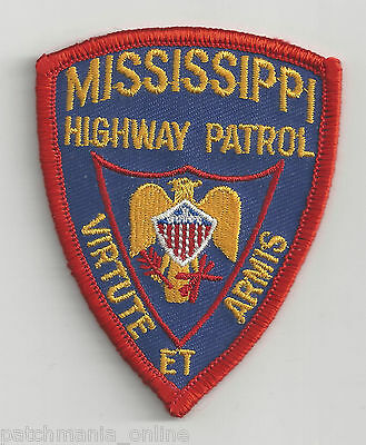 MISSISSIPPI HIGHWAY PATROL - POCKET/HAT SIZE - IRON or SEW-ON PATCH