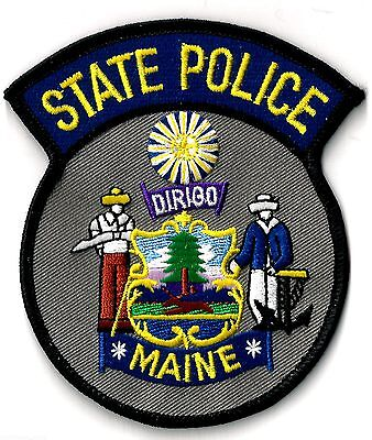 State Police Of Maine - Shoulder - Iron On Patch