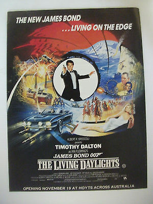 The New James Bond ... Living On The Edge The Living Daylights Movie Advert