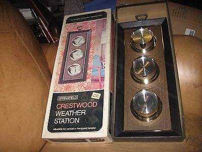 Vintage Springfield Crestwood weather station in box thermometer barometer humid