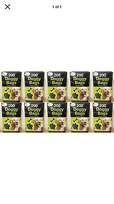 2000 Dog-Puppy Doggy Scented Degradable Poo Bags-Pet-Poop-Dispose {10X200}