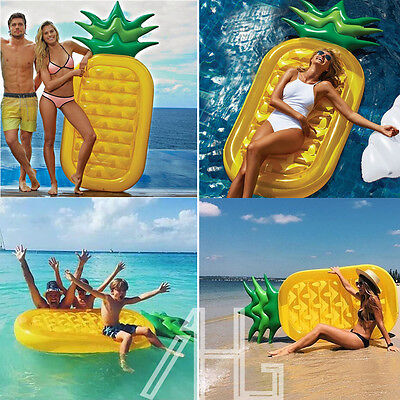 Giant Pineapple Inflatable Swimming Pool Float Air Tube Raft Bed Water Fun Toy