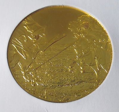 St. George and the Dragon 1oz Sterling Silver with Gold Plating