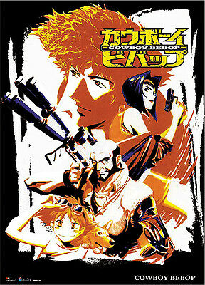 **License Poster** Cowboy Bebop Spike & Friends Old Fashion Wallscroll #60605