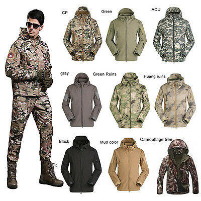 Men Women Army Military Tactical Jacket Soft Shell Waterproof Hunting OVERCoat