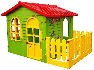 Playhouse with the fence green plastic colour indoor outdoor fun