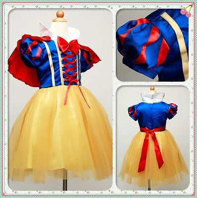 Disney Princess Dresses Snow White Girls Party Dresses Fancy Cosplay Costomes
