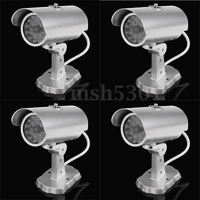 4 Pack Fake Dummy Surveillance Security Camera CCTV & Record RED LED Light