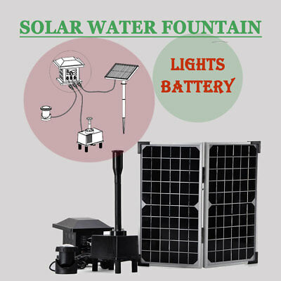 Solar Powered Panel Fountain Pond Pool Water Garden Watering Pump Kit 220L/H 10V