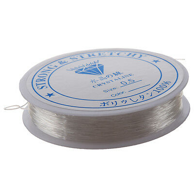 20M Spool Clear Thread Cord Wire Jewellery Making Stringing Necklaces 0.5mm A3P4