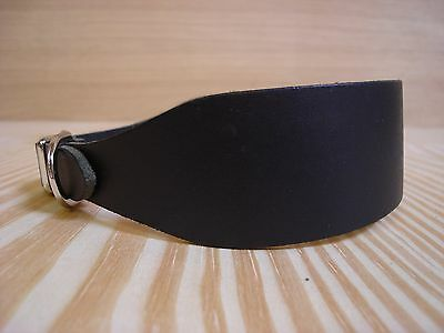 """WC1  Leather Dog Collar Lurcher/Whippet/Bedlington/Puppy 12""""-14.5"""" Lamping"""