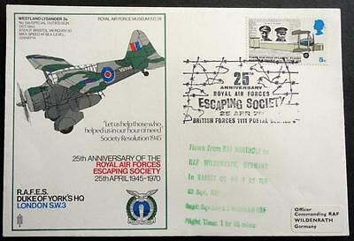 Great Britain 1970 '25th Anniv of the RAF Escaping Society' Flown/Event Cover