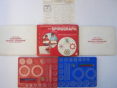 Vintage SPIROGRAPH 1967 Red Tray Blue Tray