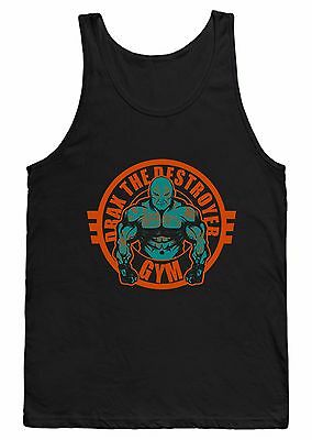 Drax The Destroyer Gym Vest T Shirt Bodybuilding Weightlifting Superhero Marvel