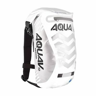 Oxford V12 Waterproof Motorcycle Scooter Backpack Rucksack White 12L Hi Vis