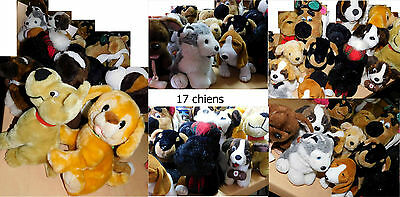 lot de peluches - 17 chiens