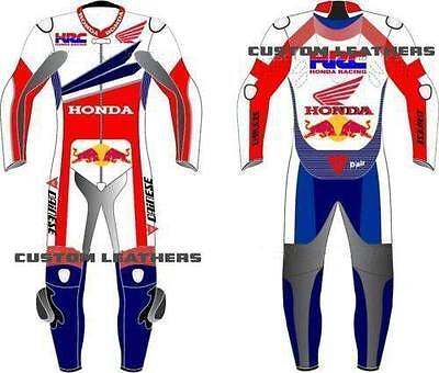 HONDA Motorbike Leather Suit Motorcycle Racing Custom Made Any Size/Colour