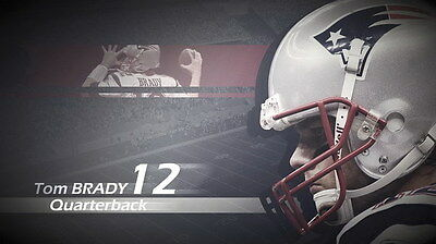 "042 Tom Brady - New England Patriots Super Bowl MVP NFL Player 24""x14"" Poster"