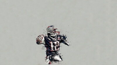 "061 Tom Brady - New England Patriots Super Bowl MVP NFL Player 24""x14"" Poster"