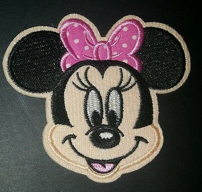 MINNIE MOUSE iron on MOFIT EMBROIDERED  PATCHES