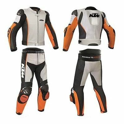 KTM Racing Motorbike Leather Suit Motorcycle Custom Made Any Size/Colour