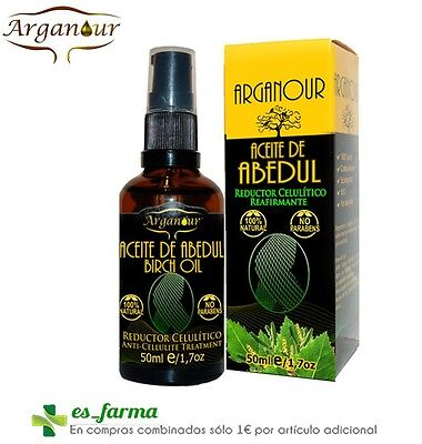 Arganour Aceite Abedul 100% Puro 50Ml Anti Celulitis Reductor Reafirmante Birch