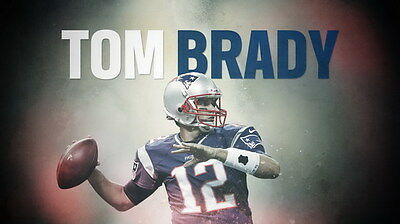 "064 Tom Brady - New England Patriots Super Bowl MVP NFL Player 42""x24"" Poster"