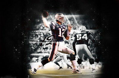 "094 Tom Brady - New England Patriots Super Bowl MVP NFL Player 36""x24"" Poster"