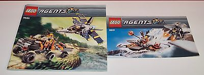 Lego BA Agents 8630, 8631, only Instructions Manuel,ohne Steine