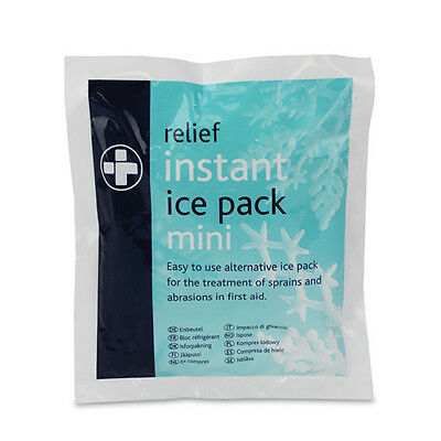 Relief Instant Mini Ice Pack x 2  For sprains  Football Rugby Netball Sport