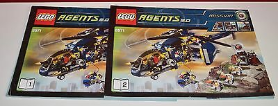 Lego BA Agents 2.0 8971 Bedrohung durch Kom only Instructions Manuel,ohne Steine