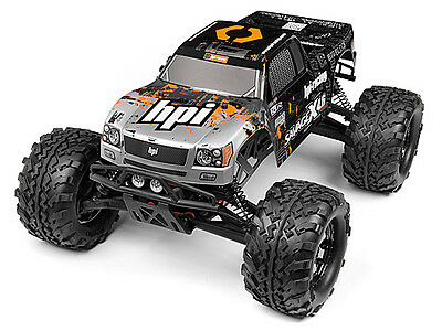 HPI Nitro Gt-3 Truck Painted Body (silver/black) #109883