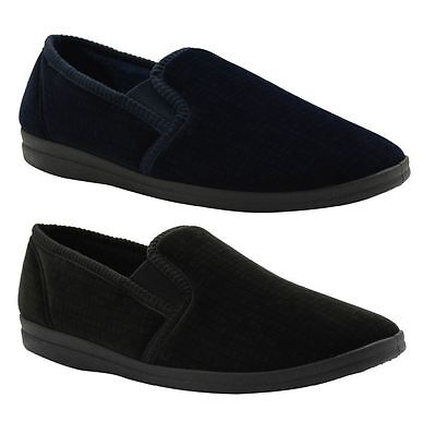 New Mens Grosby Arthur Comfortable Charcoal/black Slippers Moccasins Shoes