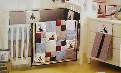 New Sailboat Cot Quilt 36 X 44  Inches