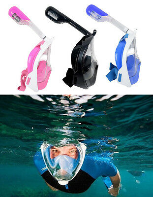 Full Face Dry Diving Mask for Gopro Swimming Underwater Snorkel Masks