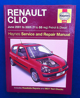 Haynes Renault Clio Petrol & Diesel Workshop Manual 2001 - 2005 Ex Condition