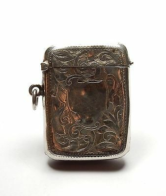 Antique Birmingham 1912 Solid 925 Sterling Silver Cigarette Vesta Case 16.4g