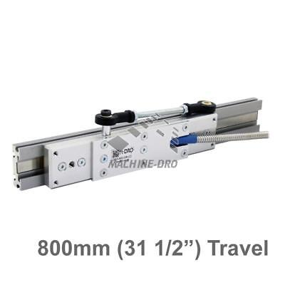 """800mm (31 1/2"""") Guided Carriage and Linear Rail for M-DRO Magnetic Encoders"""