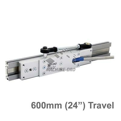 """600mm (24"""") Guided Carriage and Linear Rail for M-DRO Magnetic Encoders"""